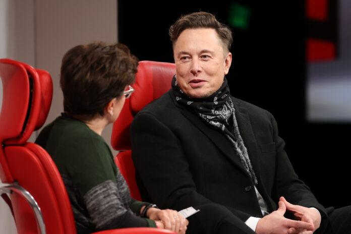 Elon Musk and Kara Swisher