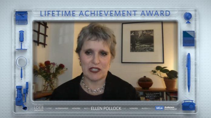 NY Times biz editor Pollock's comments at Loeb Awards